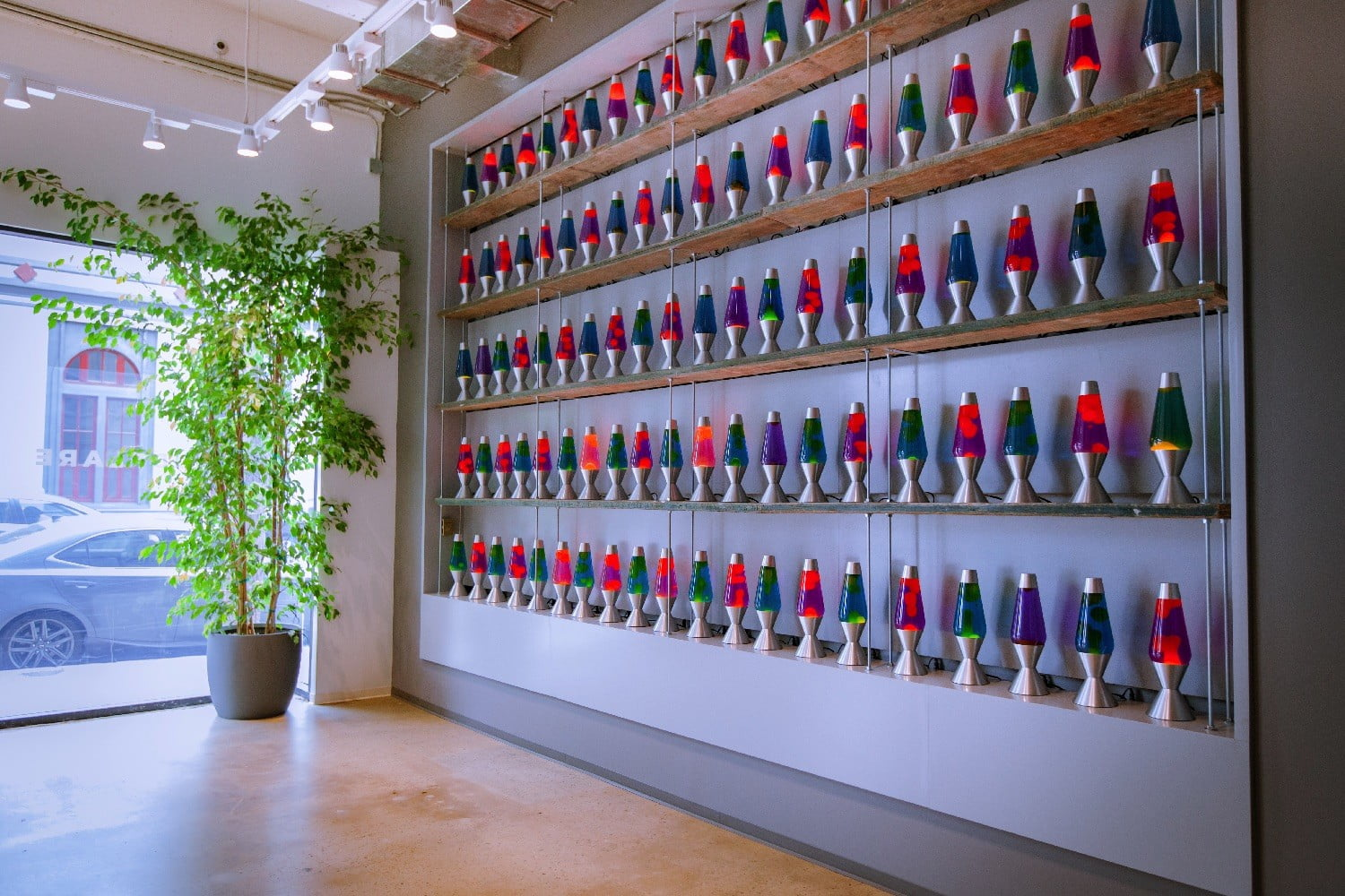 Sounds crazy, but this wall of lava lamps keeps you protected from hackers