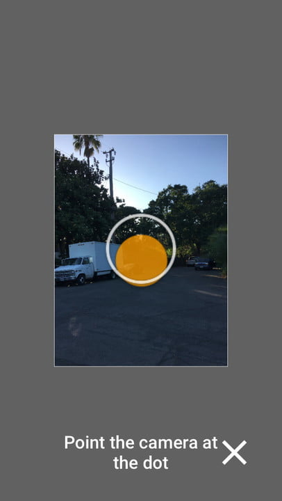Google Street View sphere sky and ground