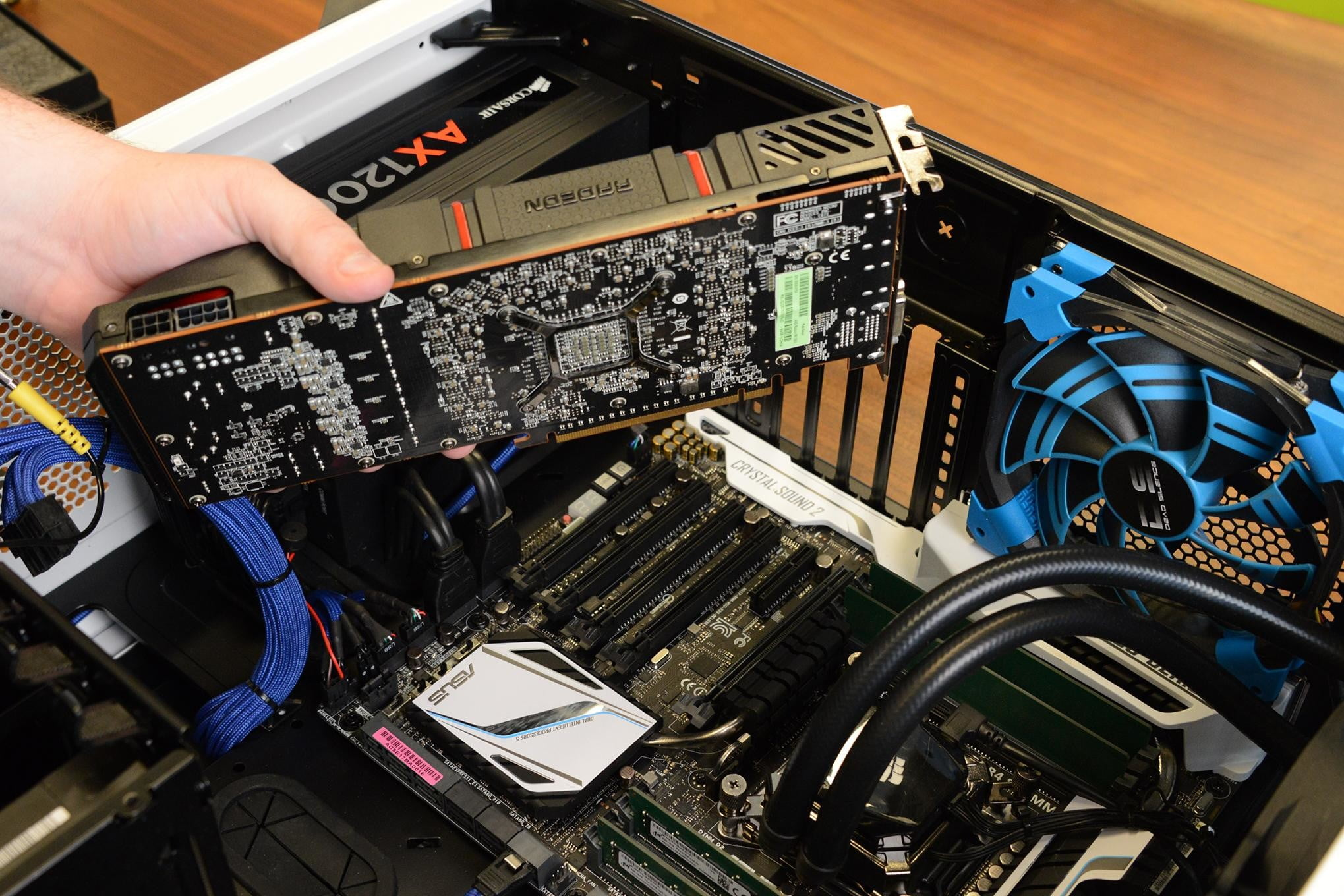 How To Install A Pc Graphics Card In Five Minutes Digital Trends Messages For Friends Images Diagram Of Motherboard With Labels