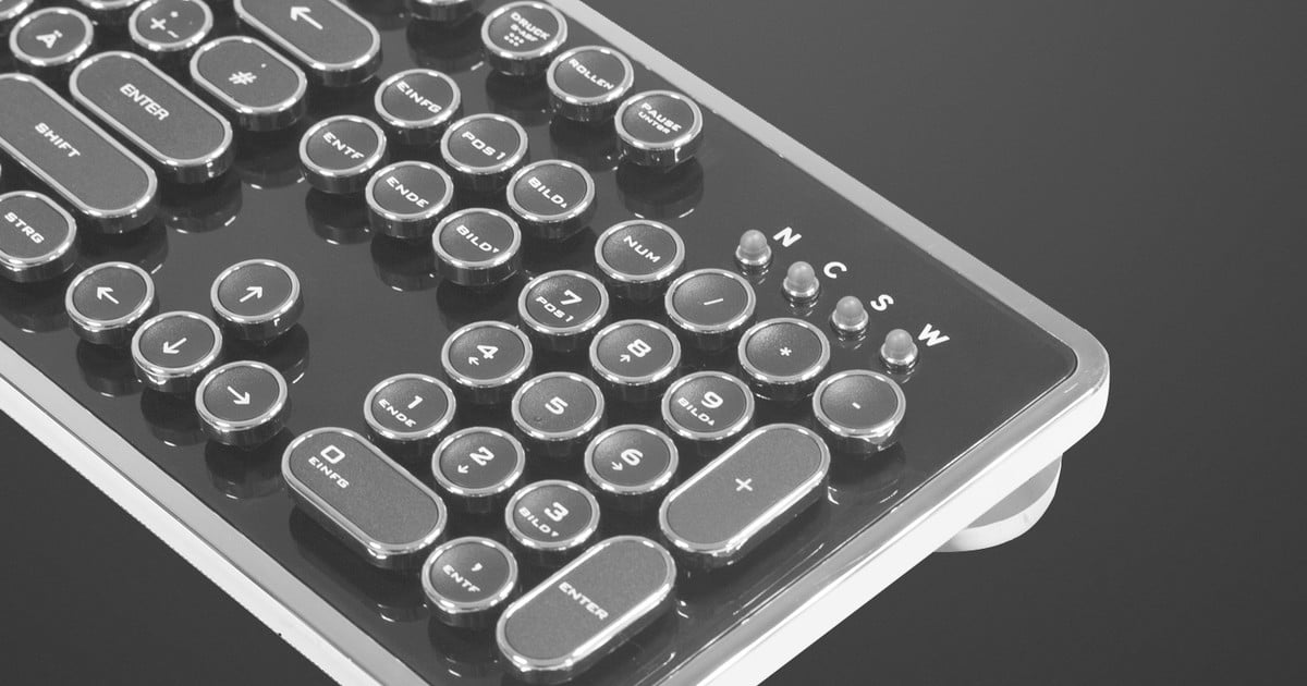 Typewriter Style Computer Keyboard Offers Retro Styling Digital Trends