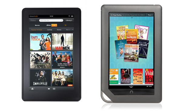 Kindle Vs Sony Reader: Amazon Kindle Fire Vs Barnes & Noble Nook Color: Spec