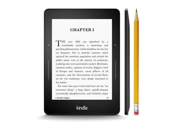 amazon launches high end voyage e reader kindle thin press image