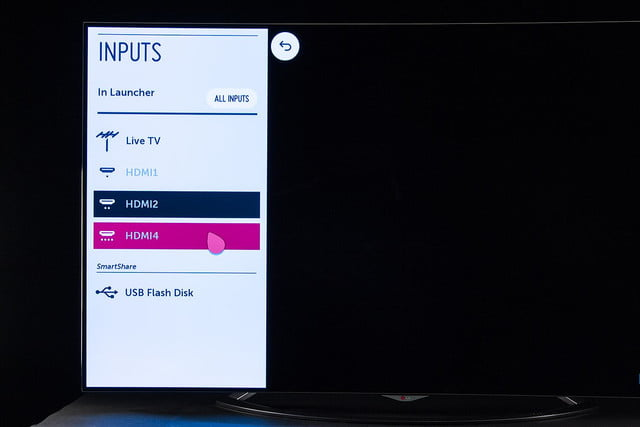 LG 65EC9700 4K OLED TV review inputs