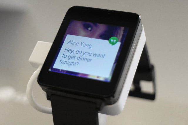 lg g watch news hands on messages