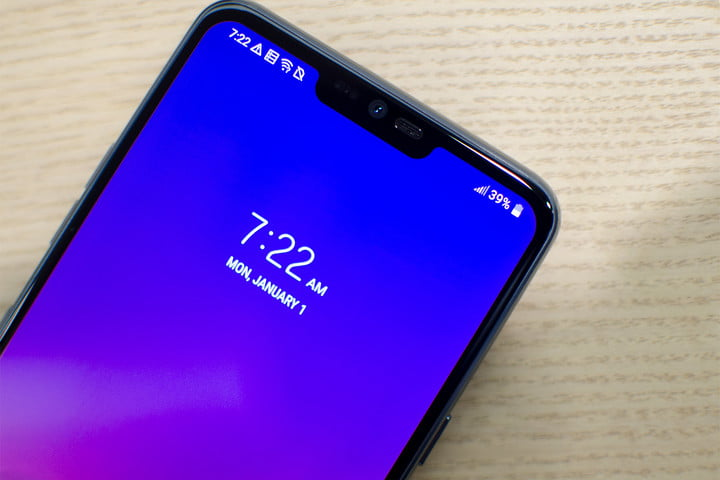 lg g7 news thinq hands on close clock angle