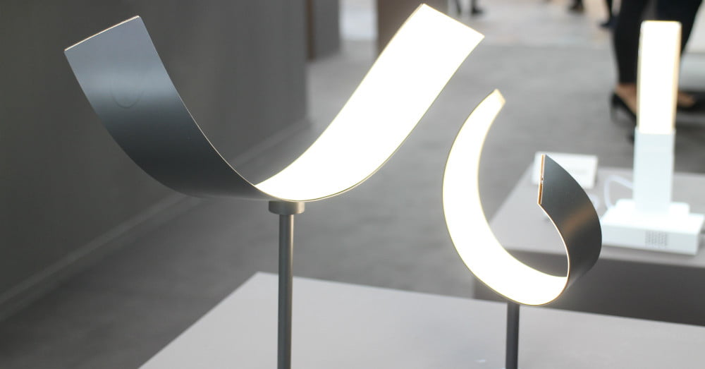 LG's flexible OLED lamps are ribbons of light you can twist into ...