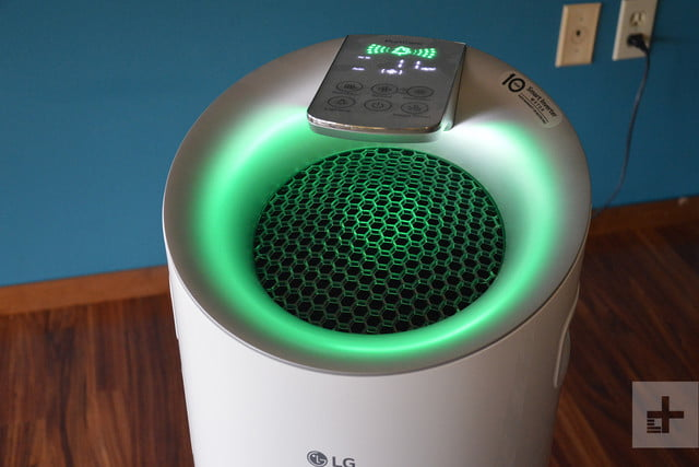 LG Puricare air purifier review green close