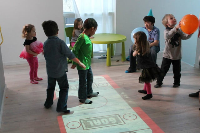 interactive game projector for kids lumo soccer