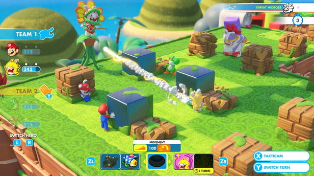 best switch games for traveling mario  rabbids kingdom battle