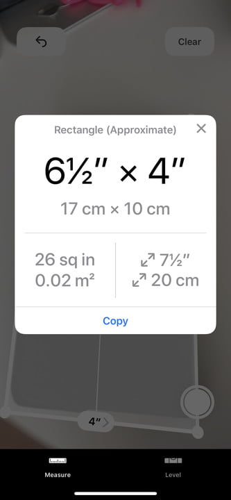 how to use the measure app in ios 12 measurement 9