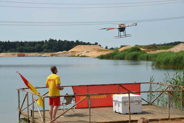981145dcdb2 German lifeguards are testing drones for rescuing swimmers
