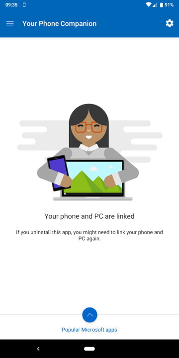 Microsoft Your Phone Android