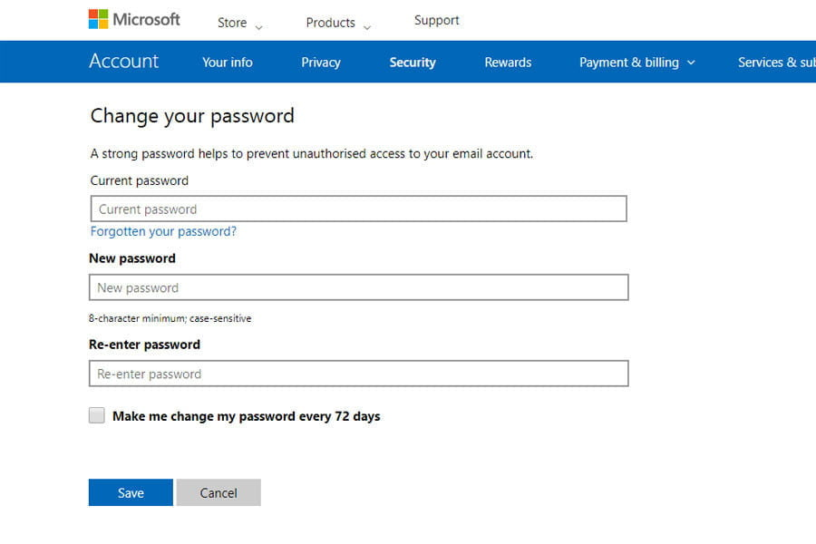 how to change your outlook password microsoftsecurity02