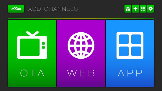 Mohu Channels UI Menu Add Channels