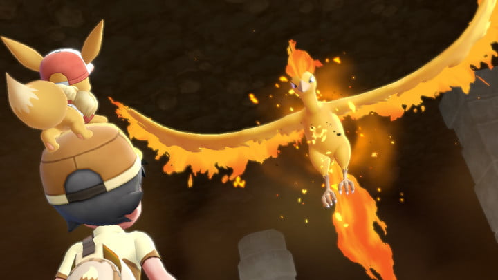 pokemon lets go how to catch legendary moltres
