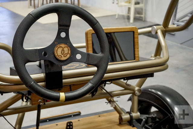 The steering wheel on a Motivo Engineering concept car