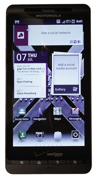 Motorola Droid X2 screen