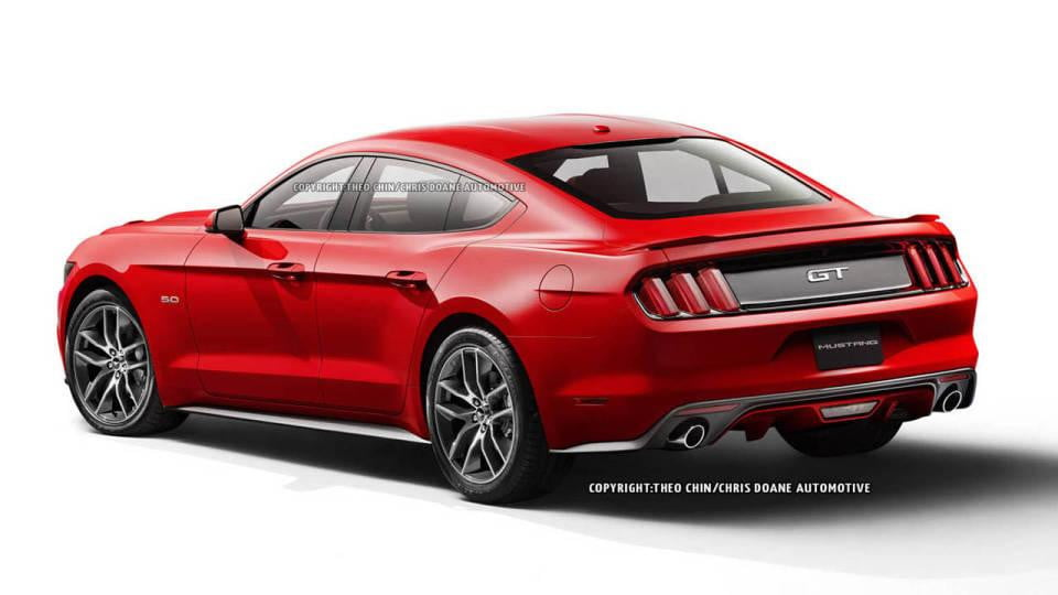 Four-door 2015 Ford Mustang rendered | Digital Trends
