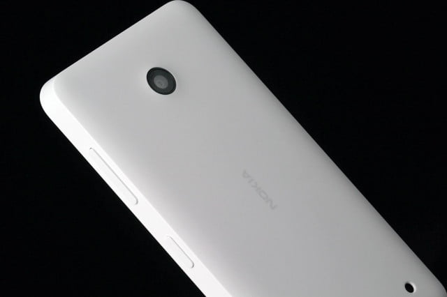 Nokia Lumia 635 top angle section