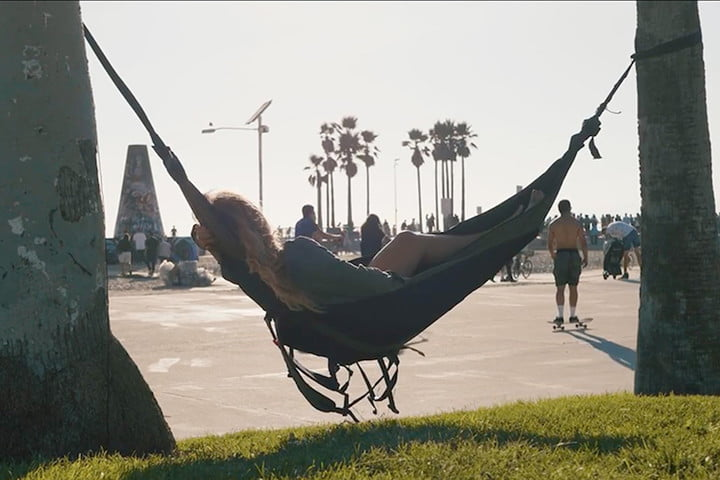 nomad hammock this hammock transforms into a backpack that you can take anywhere      rh   digitaltrends