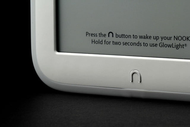 NOOK Glow bottom screen corner