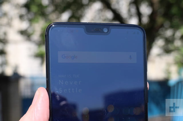 oneplus 6 hands on top half in hand