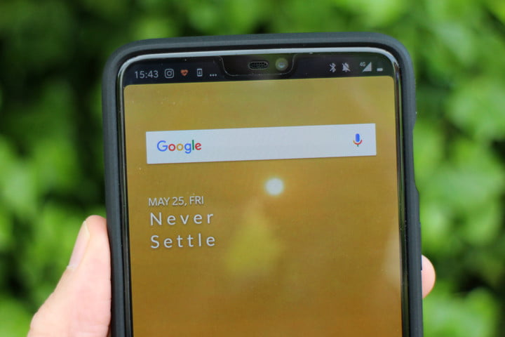 how to hide the notch oneplus 6 hidden