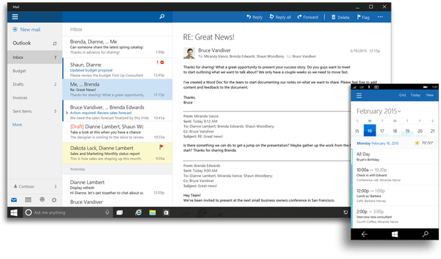 office 2016 and for windows 10 coming later this year outlook ui 900x530