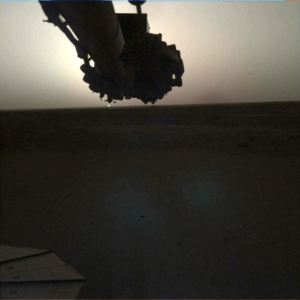 See the sun rise and set on another planet in these InSight images