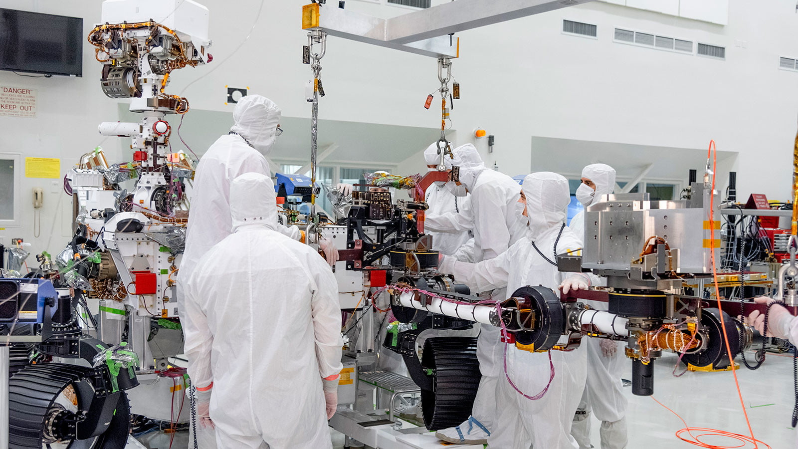 Armed and ready: Mars 2020 rover is fitted with its robotic arm