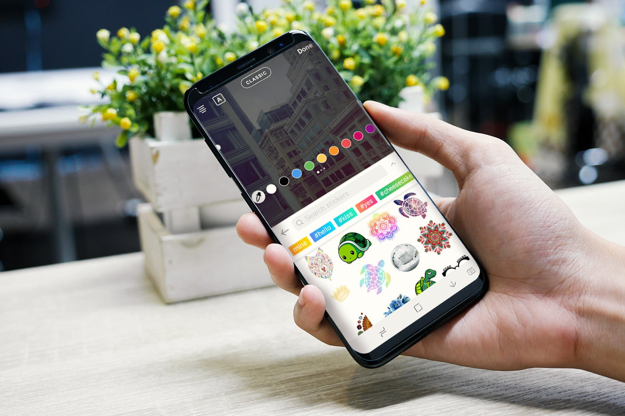 9b6f7daf75fa1 picsart sticker keyboard launches android search phone in hand may 30 2018