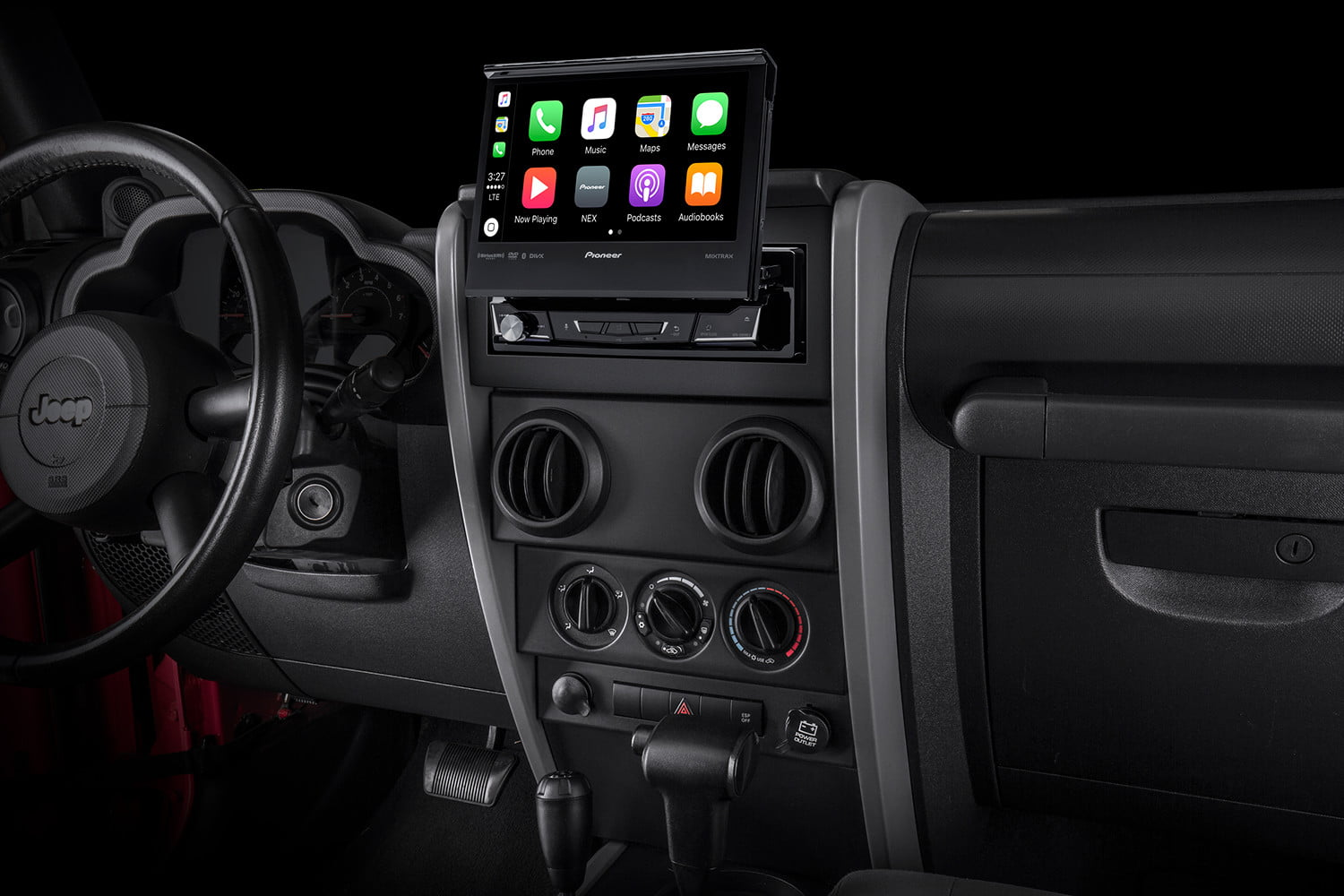Any Car Can Rock Android Auto Or Carplay With Pioneers Latest In Jeep Wrangler Double Din Radio Pioneer Avh 3300nex