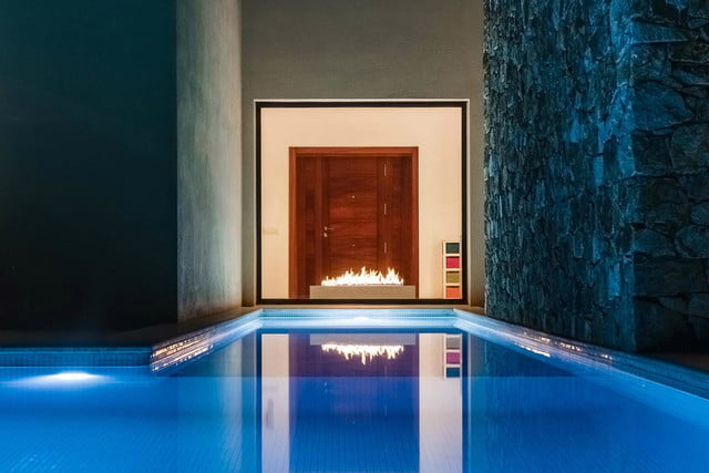 planikas new fireplace is smart and chimney less planika pool