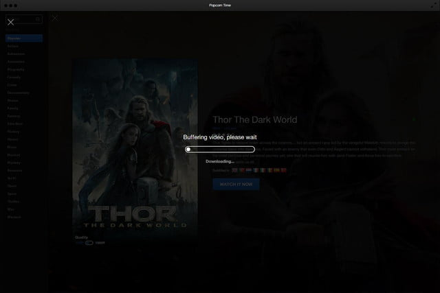 Popcorn Time Software Buffering