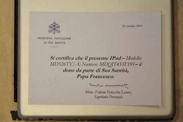 pope ipad sold at auction news 2