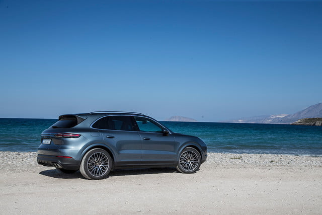 porsche cayenne s review back right angle