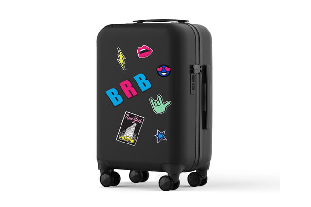 rebecca minkoff always on luggage stickers brb
