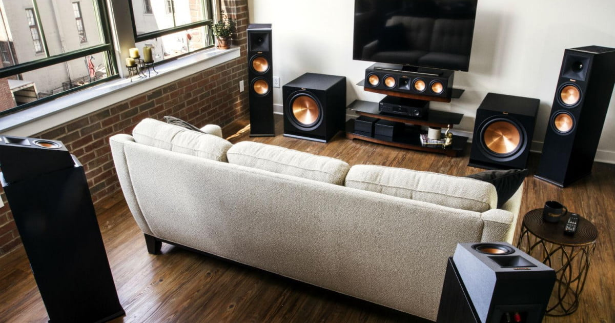 klipsch makes dolby atmos easy with three new speakers digital trends. Black Bedroom Furniture Sets. Home Design Ideas