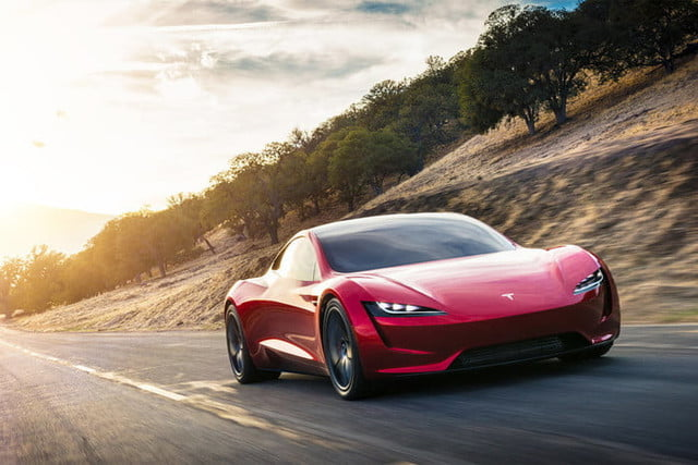 tesla roadster pictures front 34