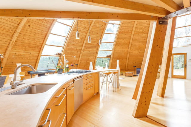 rotating domespace home is for sale dome kitchen