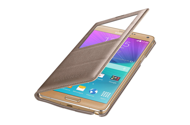 best galaxy note 4 cases s view flip cover screen 650x429
