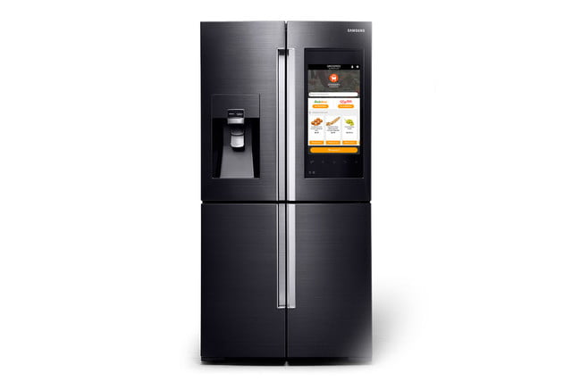 samsung family hub is a smart fridge with big touchscreen 4 door flex refrigerator and groceries by mastercard 003