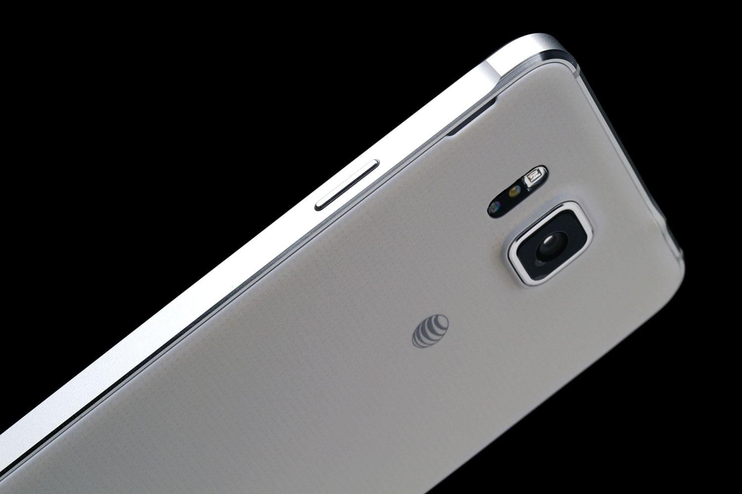 Samsung Galaxy Alpha top back angle