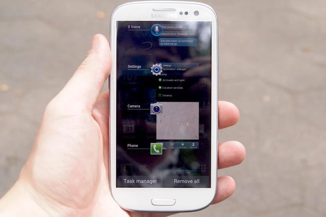 Samsung Galaxy S3 review settings screen android 4.0 ice cream