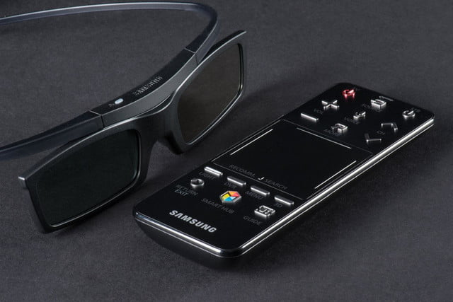 Samsung-PN51F5500-television-remote-and-3D-glasses