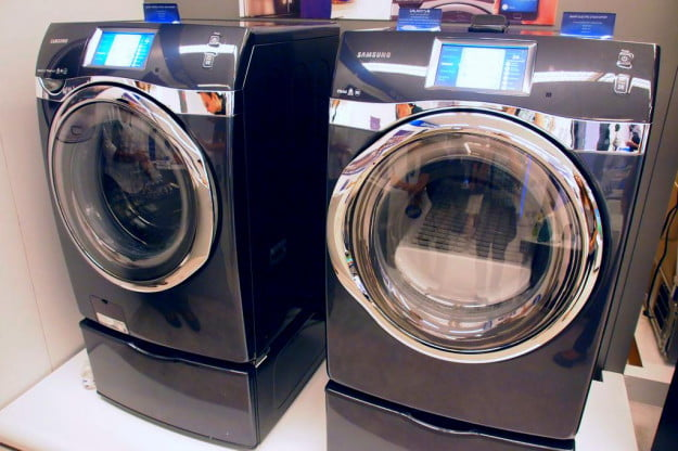 Demoing The Controlled Samsung Smart Washer And Dryer