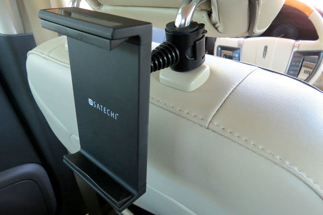 hands on satechi car mounts and accessories universal headrest tablet mount bracket