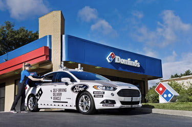 Domino's Works With Ford to Bring Driverless Pizza Delivery