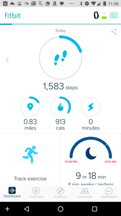 how to get fitbit alta to show stairs