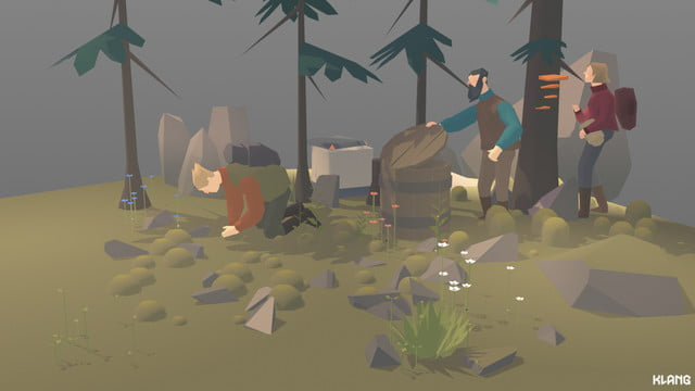 Seed Concept Art forest dwelling with resource gathering